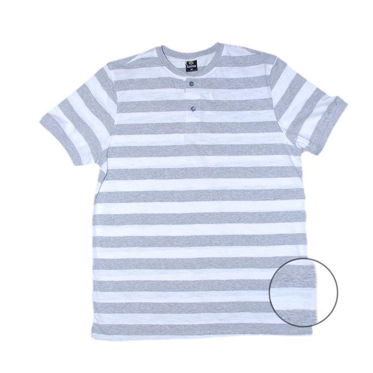 Купить Мужская футболка поло в серую полоску в интернет магазине мужской одежды OTOKODESIGN