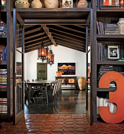 Diane Keaton's dining room. love her and her room.