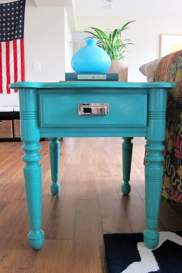 Elegant How To Paint Furniture: DIY Painted End Tables