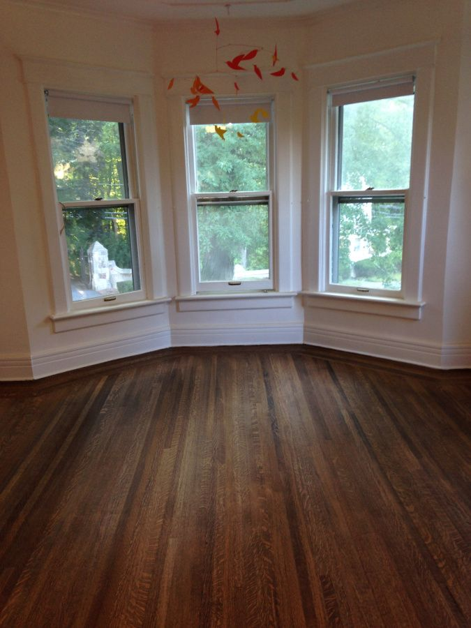 The Floor Story Minwax Dark Walnut On Red Oak Quarter