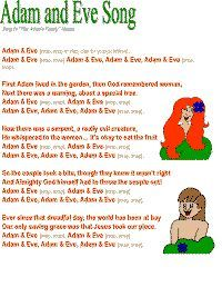 Adam and Eve song 2 color poster