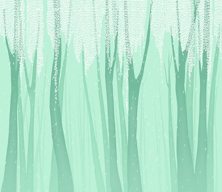 Wallcovering_(새벽 숲) M513-1