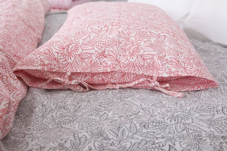 The Padmini doona cover and the Arya floral summer sheet from HARANA