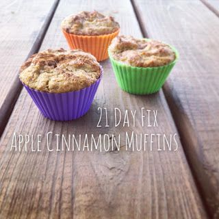 Super refreshing and easy to make muffins to help satisfy cravings on the 21 day fix meal plan. #21dayfix #muffins