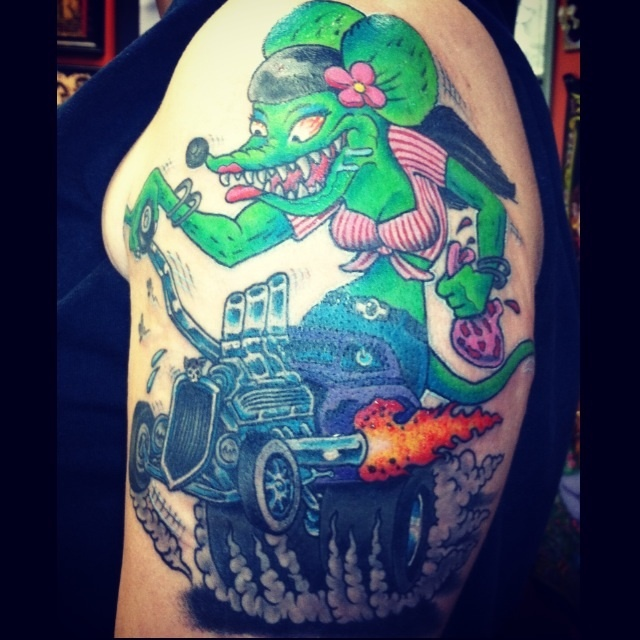my rat fink tattoo tattos awsome pinterest devil tattoos and body art and rats. Black Bedroom Furniture Sets. Home Design Ideas