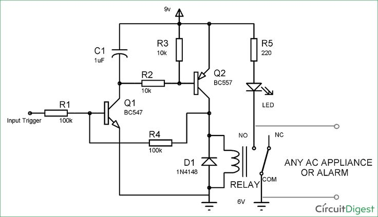 Electronic telephone ringer circuit diagram | Electronic Circuits ...