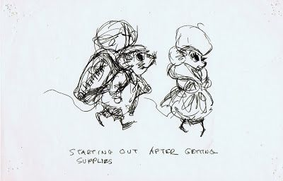 Ken Anderson's Doodles for The Rescuers