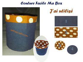 Bettinael.Passion.Couture.Made in france: Tuto couture gratuit 3 façons de faire une box de rangement