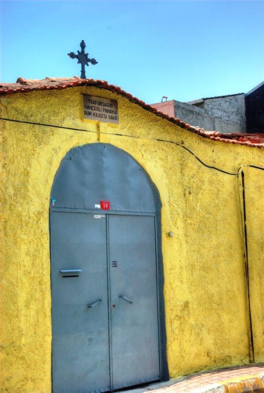 old Greek (Orthodox) Church from Ayvansaray region. I'm sharing some photos church's street.