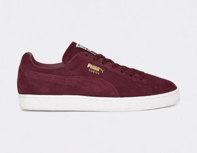 #Puma Suede Classic Burgundy #sneakers