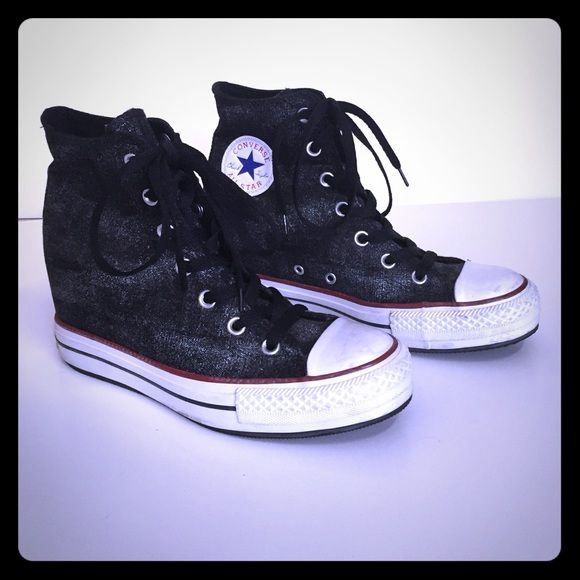 Converse wedge sneaker. High top converse all-star sneaker with built in wedge. Converse Shoes Sneakers