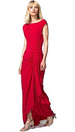 387d7ea89a2 HotSquash - Red Grecian Maxi Evening Dress in Clever Fabric ...