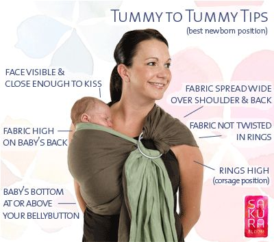 Baby sling tips for ring slings worn tummy to tummy - http://www.sakurabloom.com/pages/linen-silk-collections/   -----   definitely try and find on ebay orrr put it on the baby shower registry--oh, such a good idea!  :)