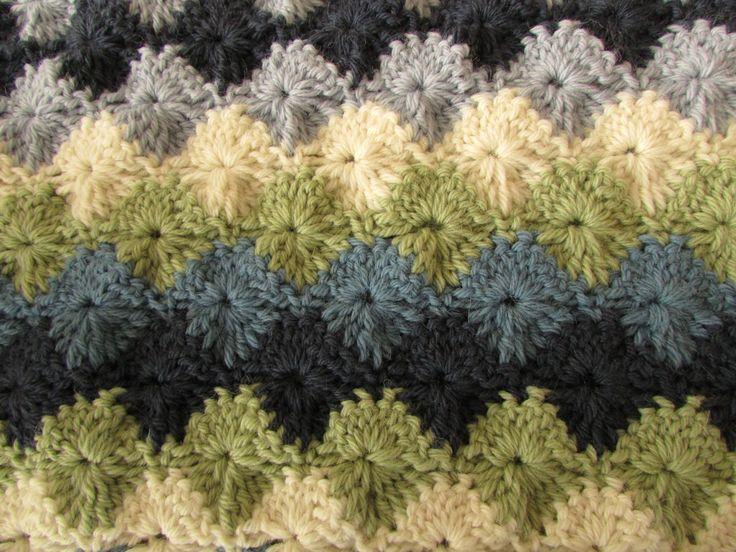 Easy Crochet Catherine Wheel Starburst Stitch Blanket