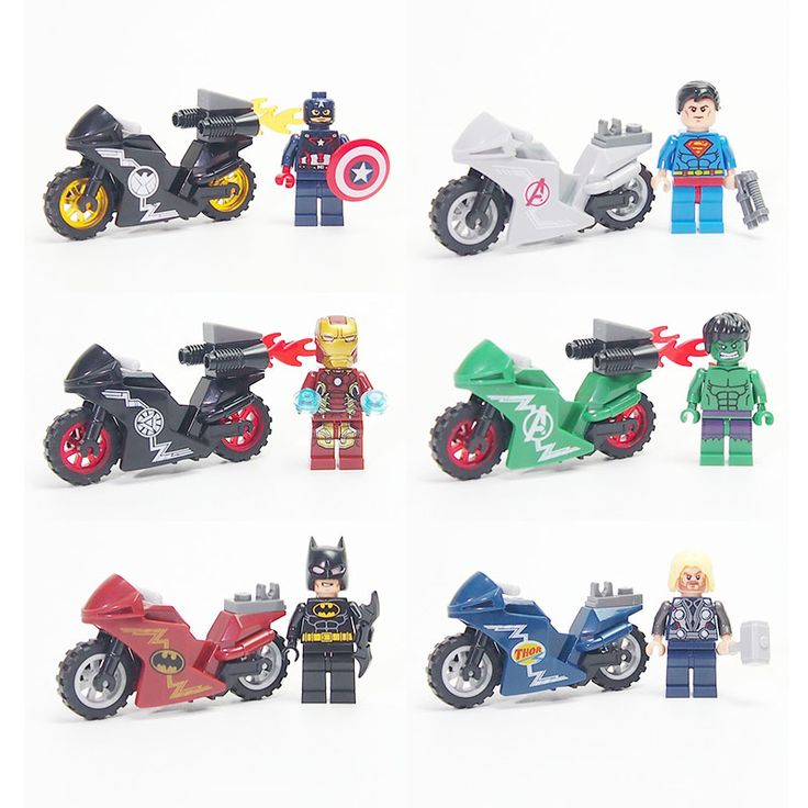 Super Heroes DC Avengers Military weapon Motorcycle Building Blocks Bricks Iron Man Model Compatible lepines toys for children