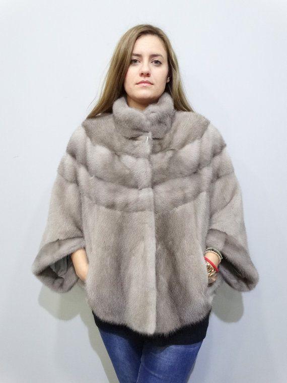 Gray fur coatreal fur boleroreal fur jacketmink by FilimegasFurs
