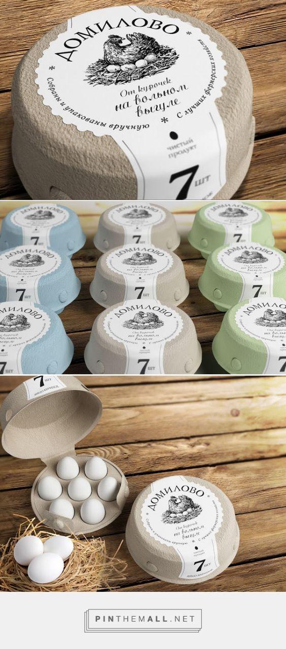 Domilovo eggs packaging designed by Getbrand - branding agency - http://www.packagingoftheworld.com/2015/11/domilovo.html: