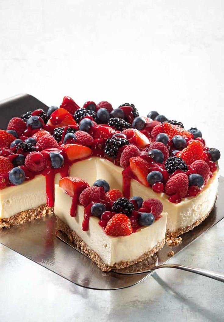 Cream-Lemon-Cake mit Himbeersoße von Attila Hildmann (lactosefrei, vegane…