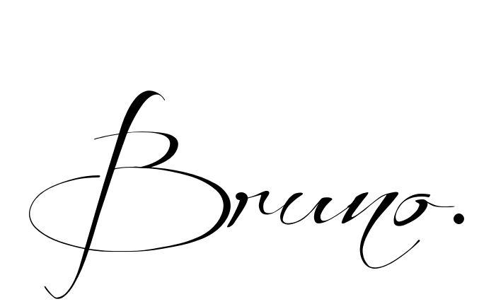 Tatuagem do nome Bruno. utilizando o estilo Before the Rain Regular