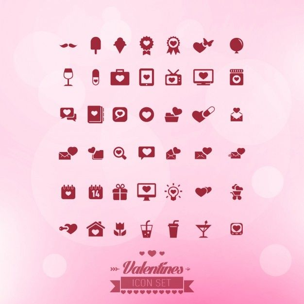 Free vector Valentines icon set #32626
