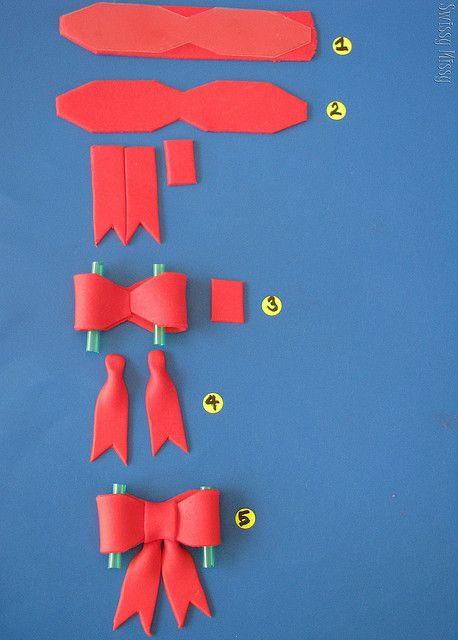 how to make a fondant bow @Karina Paje Paje Paje Paje Paje Paje Martinez Payne