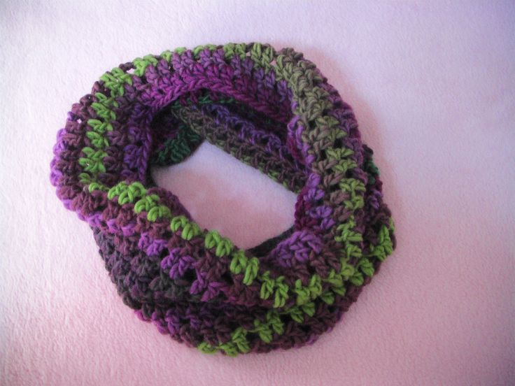 Πλεκτος Λαιμος / Crochet Infinity Scarf Tutorial