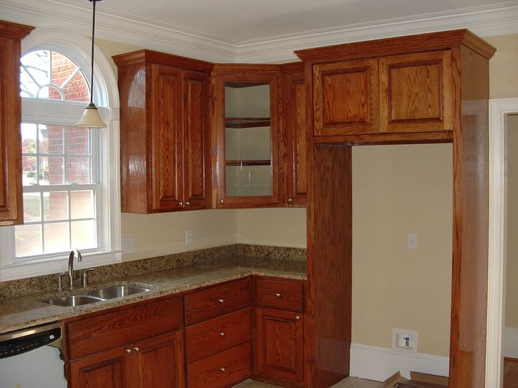 Cabinets Wrap Around Enclosed Fridge Decorhome