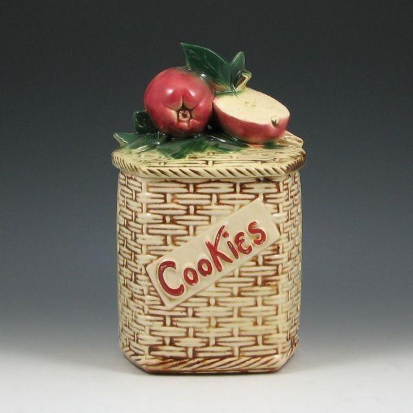 McCoy Apple On Basket Weave Cookie Jar