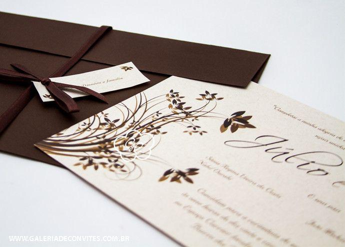 Convite casamento reciclado - Galeria de Convites