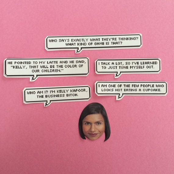 Kelly Kapoor Quotes Sticker Set by sassycelebs on Etsy