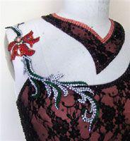 Swarovski Crystals embellishments for ballroom dress by Zhanna Kens @ http://www.ZhannaKens.com