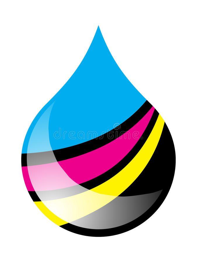 Ink Drop Printing Ink Drop Filled In Cmyk Colors Sponsored Printing Drop Ink Ink Colors Ad Cmyk Ink Ink Cmyk