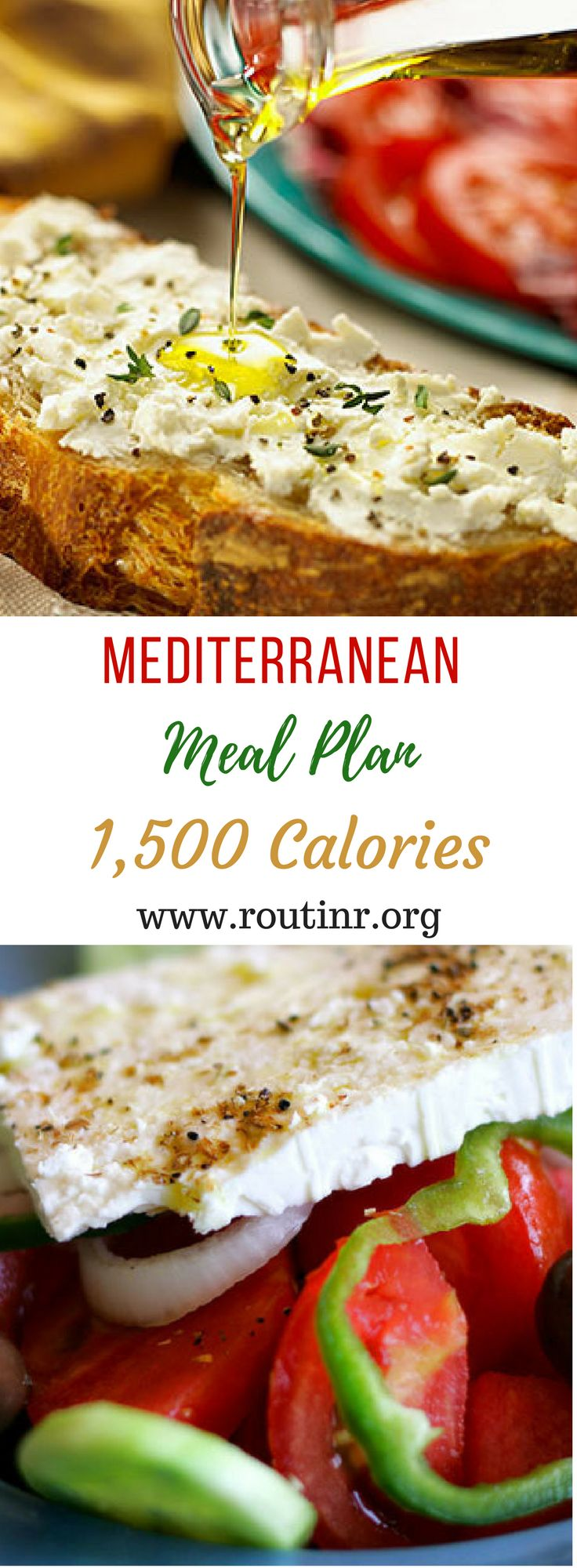 Mediterranean Diet Meal Plans: Mediterranean Meal Plan: 1,500 Calories. If you're looking for a heart-healthy eating plan, the Mediterranean diet might be right for you. Find out more at: https://routinr.org/routines/mediterranean-meal-plan-1-500-calories
