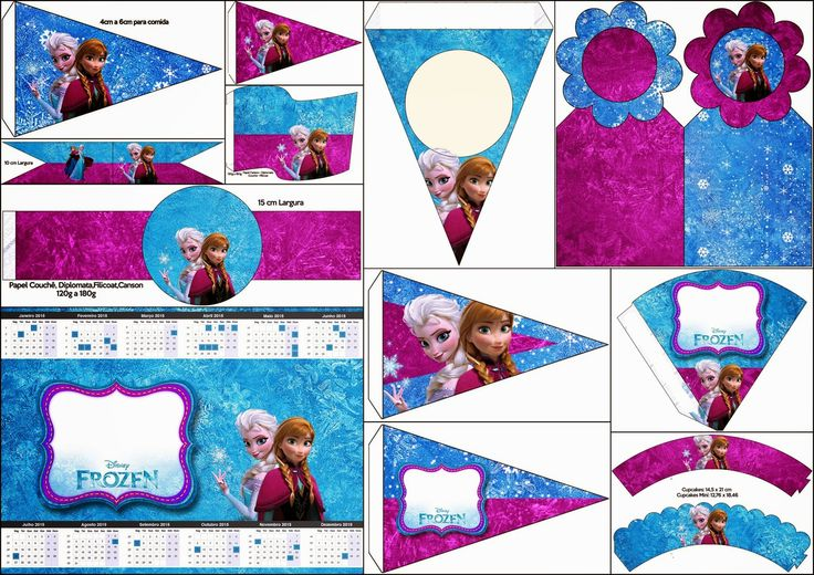 Frozen in Blue and Purple: Free Party Printables, Images and Backgrounds.