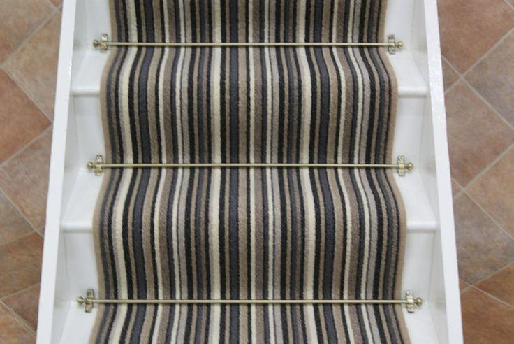 Cambridge Black stripe stair runner