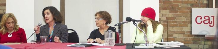 #CAJ panel on #remembrance and #journalism at #Ryerson #University. Nov. 20, 2012. Photo by Theresa Spohn