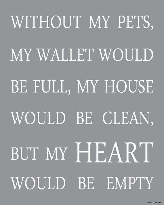 Without my pets ... my heart would be empty