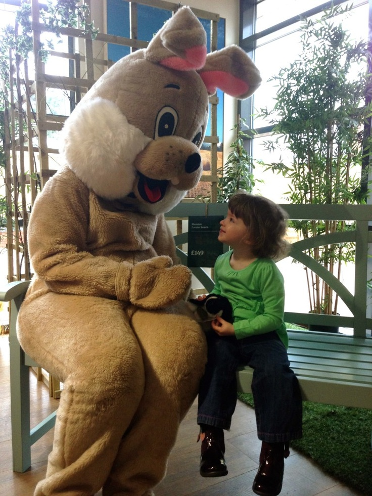 The day we met the Easter Bunny. Need to do this again next year @ Woodlands Garden Centre
