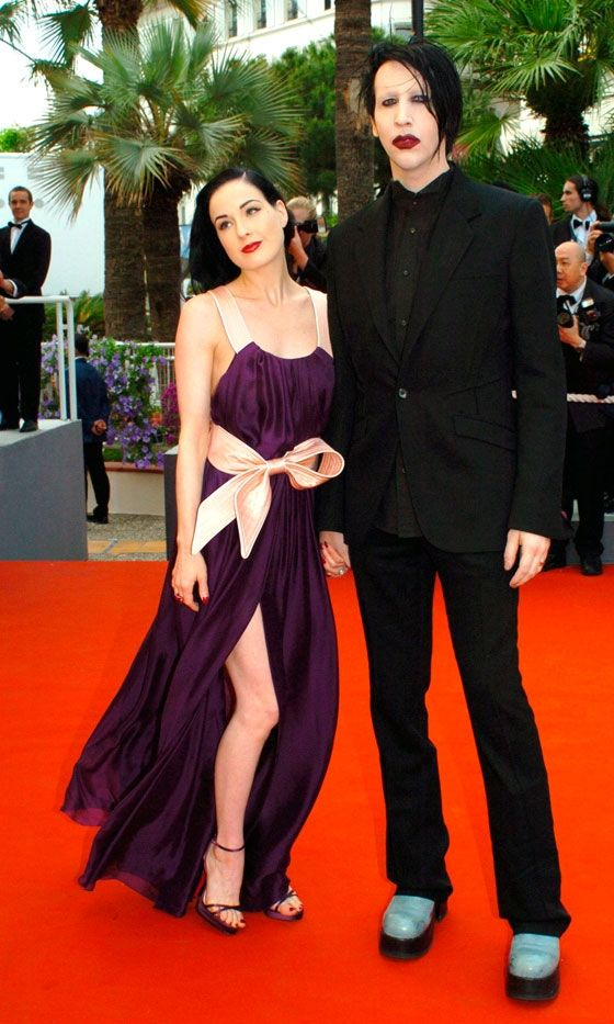 dita von teese and marilyn manson at cannes film festival 2006