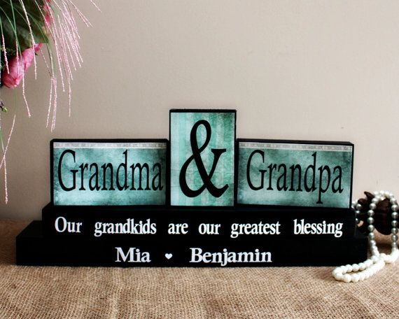 Grandparents Christmas Gift - Personalized Grandparents Anniversary Gift - Grandparents Day - Oma and Opi Present - Gifts for Nana