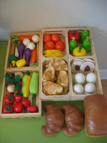 My Mommy Makes It: Salt Dough Play Food with Farmer's Market/Bazaar