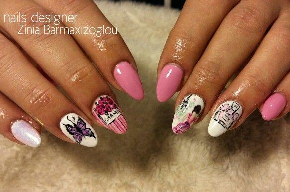 Romantic pink nails 2015