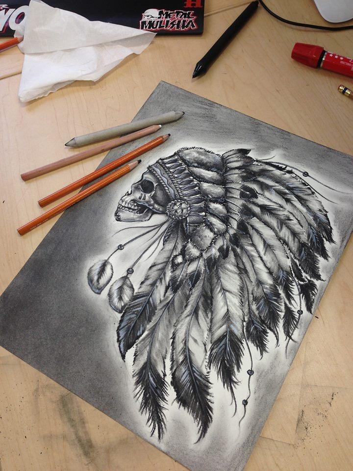 Indian Skull (metal mulisha)