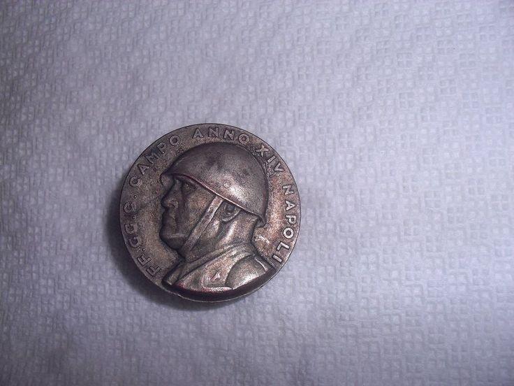Distintivo FF.GG.C. CAMPO ANNO XIV NAPOLI RARO MEDAGLIA MILITARIA