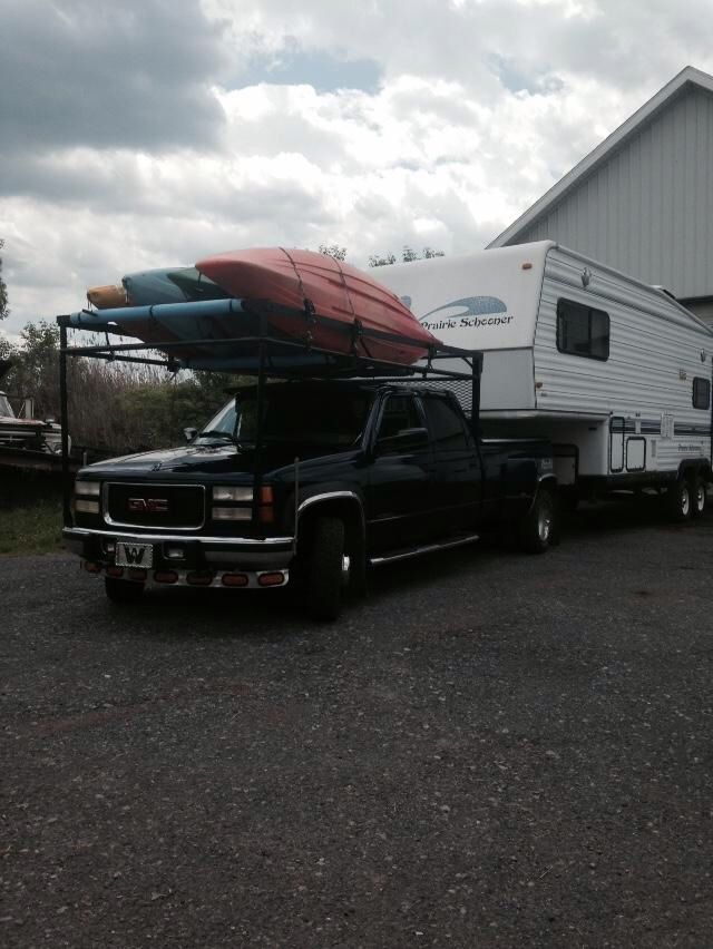 Ladder Rack For Kayaks For 5th Wheel Camper Camping