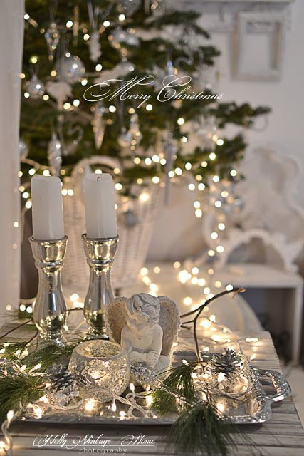 Love silver and white lights, so much sparkle!!!