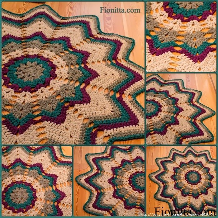 Croche: Hekle stjerne rug