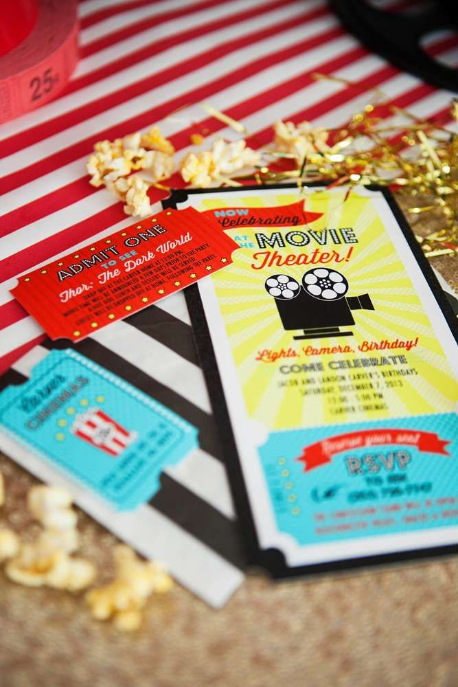 Hollywood Movie Birthday Party Ideas   Photo 1 of 118   Catch My Party