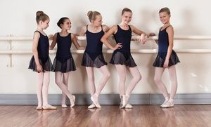 Groupon - One Month of Kids' Dance Classes or Two-Hour Dance Birthday Party for Up to 12 at Broadway Bound Dance