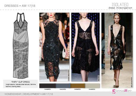 FW 2017-18 trend forecasting - Development - DRESSES: fairy slip dres